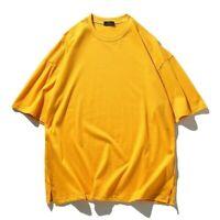 Men Cotton T-Shirt Pullover Hip-Hop Tee Tops Loose Half Sleeve Casual Soft Basic