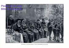 Weihnachten im Frauen Altersheim XL Kunstdruck von Helene Harth * Lohr am Main +