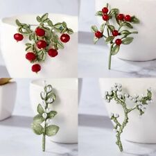 Fashion Pearl Crystal Women Flower Plant Brooch Pin Wedding Party Jewelry Gift