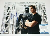 CHRISTIAN BALE SIGNED 'THE DARK KNIGHT RISES' 11x14 PHOTO BECKETT COA BATMAN BAS
