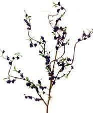 "Berry Cluster Spray Branch Stem~36"" T~Foam/PVC/Artificial~Purple"