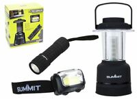 Summit Trio Light Set Pop Up Lantern Torch and Headlight For Outdoor / Camping