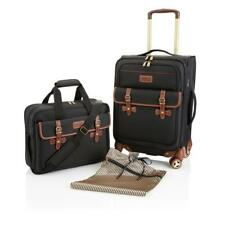 """SAMANTA 21"""" Spinner and Messenger Bag 2-piece Set  Black"""