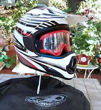 "Answer Racing Boys Motocross Helmet - White/BLK - ""Youth"" S/M"