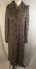 J Jill Chunky Knit Sweater Coat XL Long Duster Brown Blue Wool Blend W Bonus