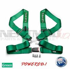 TAKATA© Style GREEN 4 POINT DRIFT III Seat Belt Racing Harness FIA 2021; Street