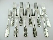 Southern Coin Silver J. E. Spear Charleston 10 Dinner Forks