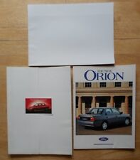 FORD ORION RANGE 1990 UK Mkt sales brochure pack with poster - LX GLX Ghia Inj