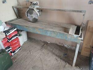 Bridge saw wet stone granite slate 3phase MENGHINI & BONFANTI tilting saw