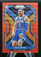 2020-21 Panini Prizm OBI TOPPIN #280 Ruby Red Wave Rookie RC NEW YORK KNICKS 🔥