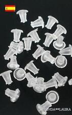 Topes de silicona para pendientes 50 unidades.
