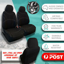 For Jeep Cherokee All Over Black Neoprene Front Car Seat Covers Water Resistant