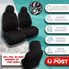 FOR RENAULT KANGOO ALL OVER BLACK NEOPRENE FRONT CAR SEAT COVERS WATER RESISTANT