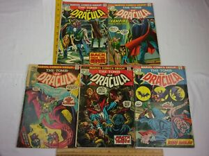 The Tomb of Dracula 12 13 15 16 17 comic book lot 1970s G-F Bronze age 2nd BLADE