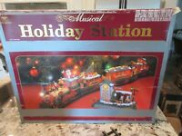 New Bright 385 Musical Holiday Station Christmas Electric Train Set