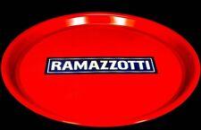 Ramazzotti Likör, Serviertablett, Rundtablett, gummierter Boden, rot