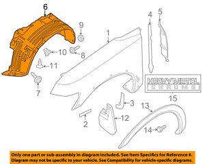 NISSAN OEM 04-09 Titan-Front Fender Liner Splash Shield Right 638307S000