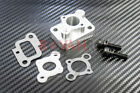 Aluminum Intake Spacer Carb Mount for 32cc, 36cc and 45cc Rovan engines, Zenoah