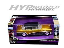MAISTO 1:26 OUTLAWS 1955 BUICK CENTURY GOLD DIECAST CAR MODEL 32507