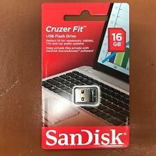 NEW SanDisk 16GB CRUZER FIT USB Memory Stick Flash Pen Drive Tiny Small USB 2.0