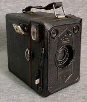 Vintage Zeiss Ikon Box Tengor Camera w/Goerz Frontar Lens & Hard Leather Case
