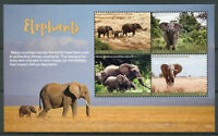 Liberia 2017 MNH Elephants African Elephant 4v M/S I Wild Animals Stamps