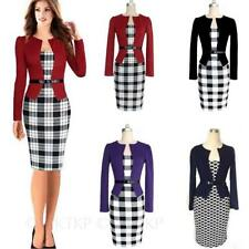 Cotton Long Sleeve Wiggle, Pencil Formal Dresses for Women