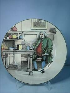 """Royal Doulton DOCTOR JOHNSON AT THE CHESHIRE CHEESE 10.5"""" Plate Series Ware"""