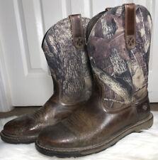 ARIAT Men's Groundbreaker 10014245 Work Boots Western Cowboy Camo Size 9.5 EE