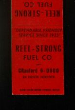 1940s Reel-Strong Fuel Co. Since 1925 Heating Oils Burner Coal Coke Cranford NJ