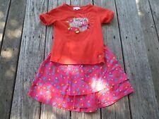 La Compagnie Des Petits ~ Girls Floral Outfit skirt shirt ~ Size 6