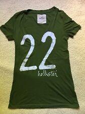 Hollister by Abercrombie and Fitch Damen T-Shirt Top Zustand Gr XS- S dunkelgrün