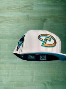 EXCLUSIVE Fitted Hat Arizona Diamondbacks Pink Patch 7 1/4 Club New Travis MLB