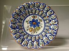 """Mexican Pottery Talavera Hand painted Small Plate 6.5"""" diameter 3D Textured"""
