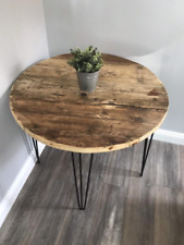 ALFIE-Modern Rustic Reclaimed Wood Rounded Table