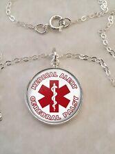 Cerebral Palsy Medical Alert Sterling Silver 925 Pendant Necklace