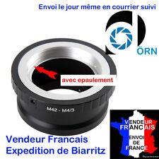BAGUE ADAPTATION DE MARQUE DÖRN AVEC EPAULEMENT OBJECTIFS M42 SUR  MICRO 4/3