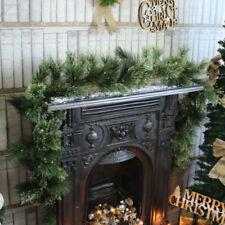 Ghirlande , corone e fiori natalizi natali tessuto