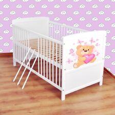 Babybett  Kinderbett - Juniorbett umbaubar 140x70 Weiß nr 27