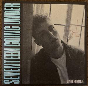 SAM FENDER - SEVENTEEN GOING UNDER BABY BLUE VINYL LP HAND SIGNED