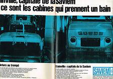 PUBLICITE ADVERTISING 015  1966  SAVIEM  à BLAINVILLE camions poids-lourds ( 2p)