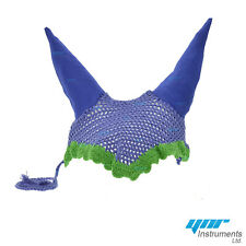 YNR Horse Ear Net Fly Veil Crochet Equestrian With Piping Cob Horse