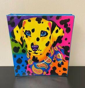 "Vintage Lisa Frank 11"" Dalmatian 3-Ring Binder Notebook, Cheetah Print Puppy Dog"