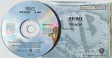PRINCE CD Peach USA PROMO Title Sleeve Unique UNPLAYED 1 Track rare