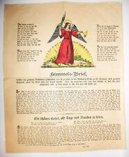 Himmelsbrief Schutzbrief um 1870 altkoloriert Gebet Christentum !
