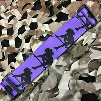 NEW KM Paintball Universal Mask Goggle Strap - 09 Purple/Black Stripper