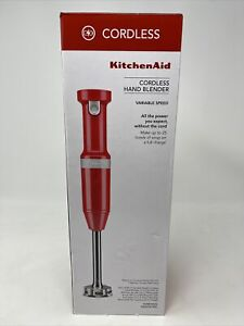 KitchenAid Cordless Variable Speed Immersion Hand Blender KHBBV53PA (Red)