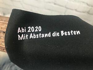 Abi 2020 Mit Abstand ...Mundschutz Atemschutzmaske Behelfsmaske mit Wunschdruck