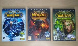 World of warcraft X 3 Expansion Packs Cataclysm Burning Crusade Wrath of Lich.
