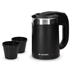Edelstahl Mini Reisewasserkocher 0,5l mit 2 Trinkbechern Reise-Wasserkocher